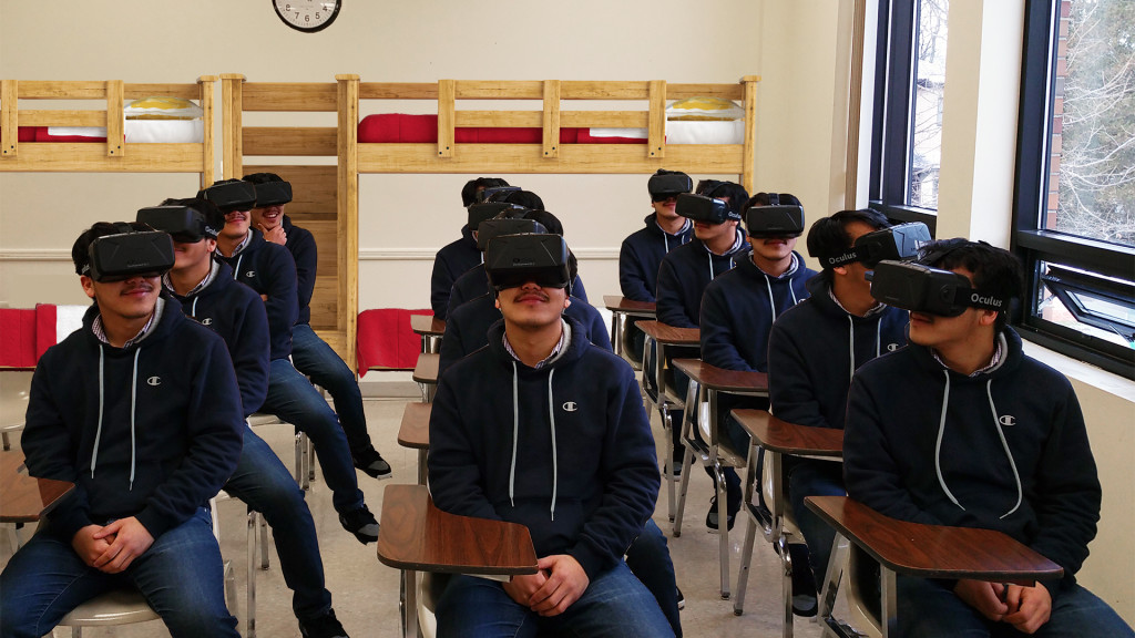 Virtual Reality Training for a ' classroom' full of people