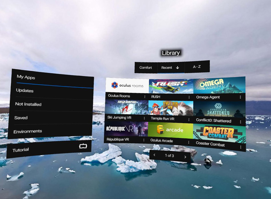 The Oculus Virtual Reality Content Management System